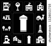 set of 13 simple editable icons ... | Shutterstock .eps vector #1128011735