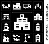 set of 13 simple editable icons ... | Shutterstock .eps vector #1128012359