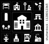 set of 13 simple editable icons ...   Shutterstock .eps vector #1128012365