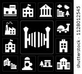 set of 13 simple editable icons ... | Shutterstock .eps vector #1128012545