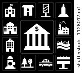 set of 13 simple editable icons ... | Shutterstock .eps vector #1128012551