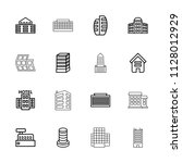 skyscraper icon. collection of... | Shutterstock .eps vector #1128012929