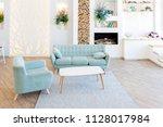 fashionable spacious apartment...   Shutterstock . vector #1128017984