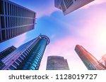 bottom view of modern...   Shutterstock . vector #1128019727