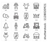 set of 16 icons such as house ... | Shutterstock .eps vector #1128020921