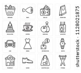 set of 16 icons such as fitness ...