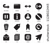 set of 16 icons such as cursor  ...