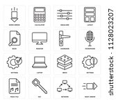 set of 16 icons such as right... | Shutterstock .eps vector #1128023207