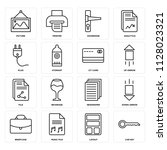 set of 16 icons such as car key ...