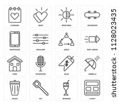 set of 16 icons such as layout  ... | Shutterstock .eps vector #1128023435