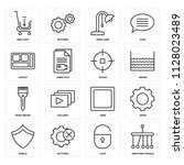 set of 16 icons such as newtons ...