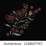 western flowers slogan...   Shutterstock .eps vector #1128027767