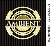 ambient gold emblem or badge | Shutterstock .eps vector #1128033101