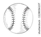 sport ball sketch | Shutterstock .eps vector #1128036137