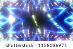 abstract shiny blue background... | Shutterstock . vector #1128036971