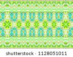 colorful horizontal pattern for ... | Shutterstock . vector #1128051011