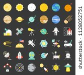 solar system  space and... | Shutterstock .eps vector #1128052751