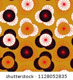 asian style floral seamless in... | Shutterstock .eps vector #1128052835