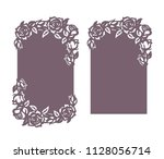 wedding invitation card with... | Shutterstock .eps vector #1128056714