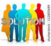 business solution concept  the... | Shutterstock . vector #112805689