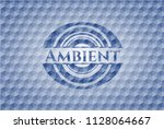 ambient blue badge with... | Shutterstock .eps vector #1128064667