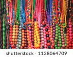 beads. colored multicolored...   Shutterstock . vector #1128064709