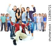 group of young people. isolated ... | Shutterstock . vector #112806721