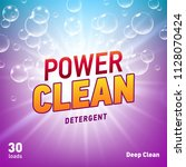 creative laundry detergent... | Shutterstock . vector #1128070424
