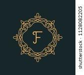 f letter luxury logo template...   Shutterstock .eps vector #1128082205