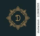 d letter luxury logo template...   Shutterstock .eps vector #1128082505