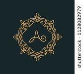 a letter luxury logo template...   Shutterstock .eps vector #1128082979