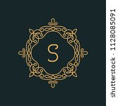 s letter luxury logo template...   Shutterstock .eps vector #1128085091