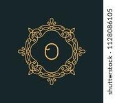 o letter luxury logo template...   Shutterstock .eps vector #1128086105