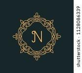 n letter luxury logo template...   Shutterstock .eps vector #1128086339