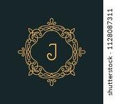 j letter luxury logo template...   Shutterstock .eps vector #1128087311