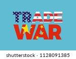 trade war between china and... | Shutterstock .eps vector #1128091385
