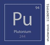 plutonium pu chemical element... | Shutterstock .eps vector #1128095951