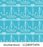 sea pattern. vector seamless... | Shutterstock .eps vector #1128097694