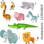 african animal set | Shutterstock .eps vector #112810819