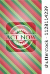 act now christmas colors style... | Shutterstock .eps vector #1128114239