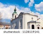 evangelical augsburg church in... | Shutterstock . vector #1128119141
