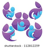 vector collection of family...   Shutterstock .eps vector #112812259