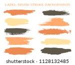 isolated label brush stroke... | Shutterstock .eps vector #1128132485