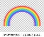 rainbow icon isolated on... | Shutterstock .eps vector #1128141161