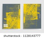 abstract concrete textured ... | Shutterstock .eps vector #1128143777