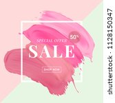 vector sale banner with text on ... | Shutterstock .eps vector #1128150347