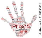 vector conceptual prison ... | Shutterstock .eps vector #1128150431