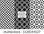 seamless geometric pattern set  ... | Shutterstock .eps vector #1128154127