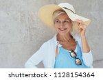 portrait of cheerful attractive ... | Shutterstock . vector #1128154364