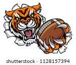 a tiger angry animal sports... | Shutterstock .eps vector #1128157394